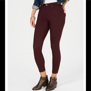 NWT Style & Co Super-Skinny Brushed Ankle Jeans
